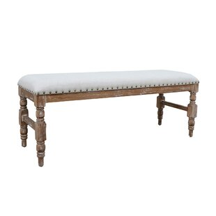Beom Rustic Country-Style Distressed Wood Bench by Ophelia & Co.
