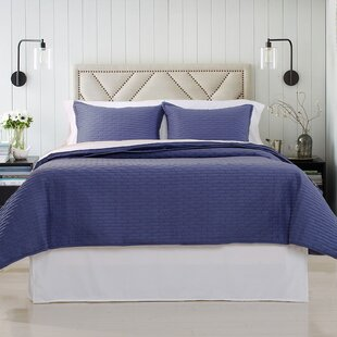 Charlton Home Campagna Luxury Quilted Coverlet