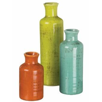 Orren Ellis Barcelone Green 11 5 Glass Table Vase Wayfair