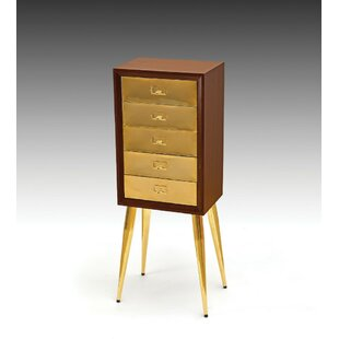 George Oliver Mohamed Metal and Wood Free Standing Jewelry Armoire