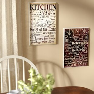 Isabell Dining And Kitchen 2 Piece Kitchen Textual Art Plaque Set