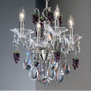 Classic Lighting Garden of Versailles 4-Light Candle Style Chandelier