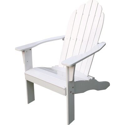 Fordyce Hardwood Adirondack Chair Color: White by Andover Mills