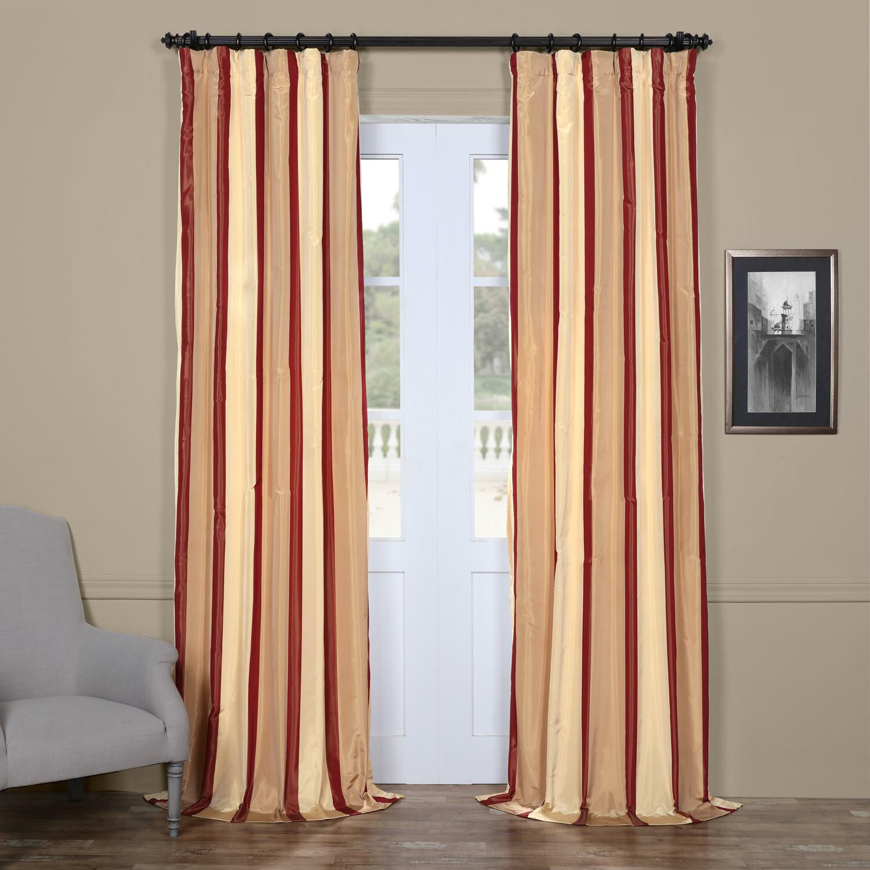 Astoria Grand Arkwright Synthetic Striped Room Darkening Thermal Rod Pocket Single Curtain Panel Wayfair