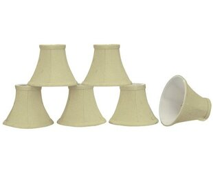 6 Fabric Bell Candelabra Shade (Set of 6)