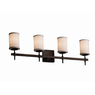 Latitude Run Red Hook Modern 4 Light Cylinder Shade w/ Flat Rim Vanity Light