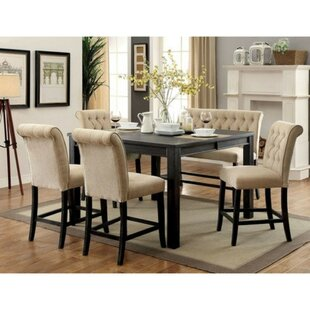 Duley Rustic 6 Piece Counter Height Solid Wood Dining Set