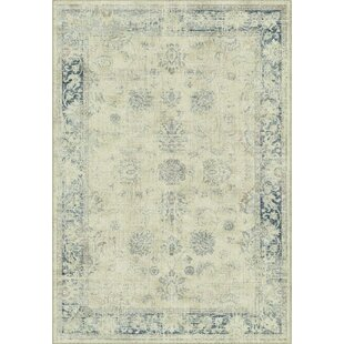 Compare Malakoff  Cream/Blue Area Rug By Lark Manor