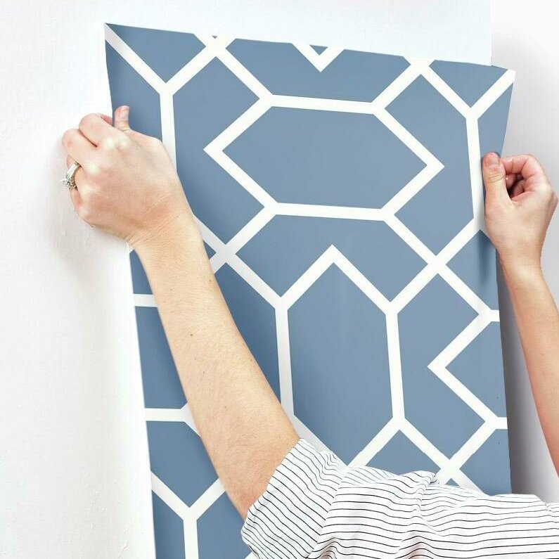Geometric L And Stick Wallpaper Roll