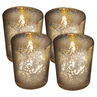 Rustic Gl Votive Candle Holder Set Of 4