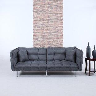 Shop Modern Plush Tufted Linen Splitback Living Room Sleeper Sofa by Madison Home USA