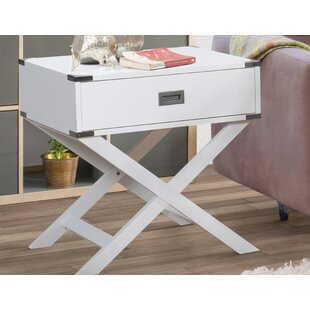 Comparison Hinckley End Table with Storage by Wrought Studio