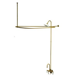 Kingston Brass Vintage Triple Handle Wall Mount Gooseneck Clawfoot Tub Fau..