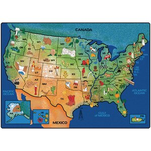 Geography Area Rugs Youll Love Wayfair - Usa area