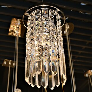 KeAndre Glam 1-Light Crystal-Pendant by Orren Ellis