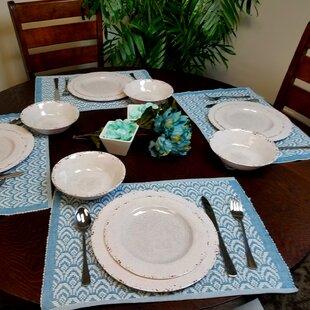 Eckert 12 Piece Melamine Dinnerware Set, Service for 4