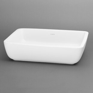Mod Ceramic Square Vessel Bathroom Sink by Ronbow