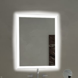 Compare prices Rectangle Backlit Bathroom / Vanity Wall Mirror By Paris Mirror