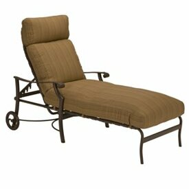 Montreux Reclining Chaise Lounge with Cushion