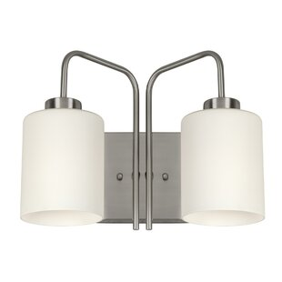 Wrought Studio Zeno 2-Light Vanity Light