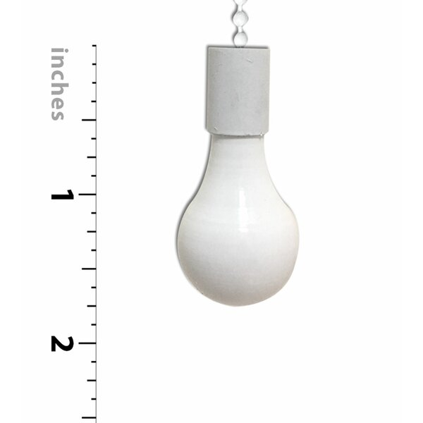 Royaldesigns 2 Piece Fan And Light Bulb Shaped Ceiling Fan Pull Chain Set Reviews Wayfair