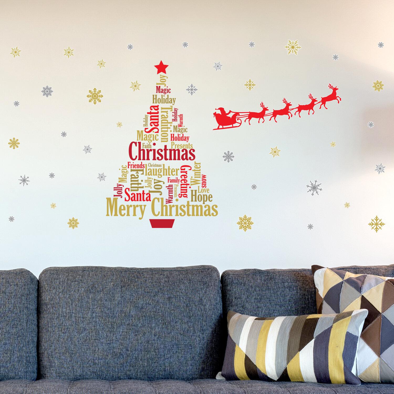 The Holiday Aisle English Quotes Santa\'s Sleigh Christmas Tree Wall ...
