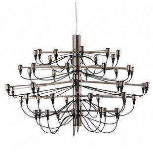 Neville 30-Light Geometric Chandelier by Brayden Studio