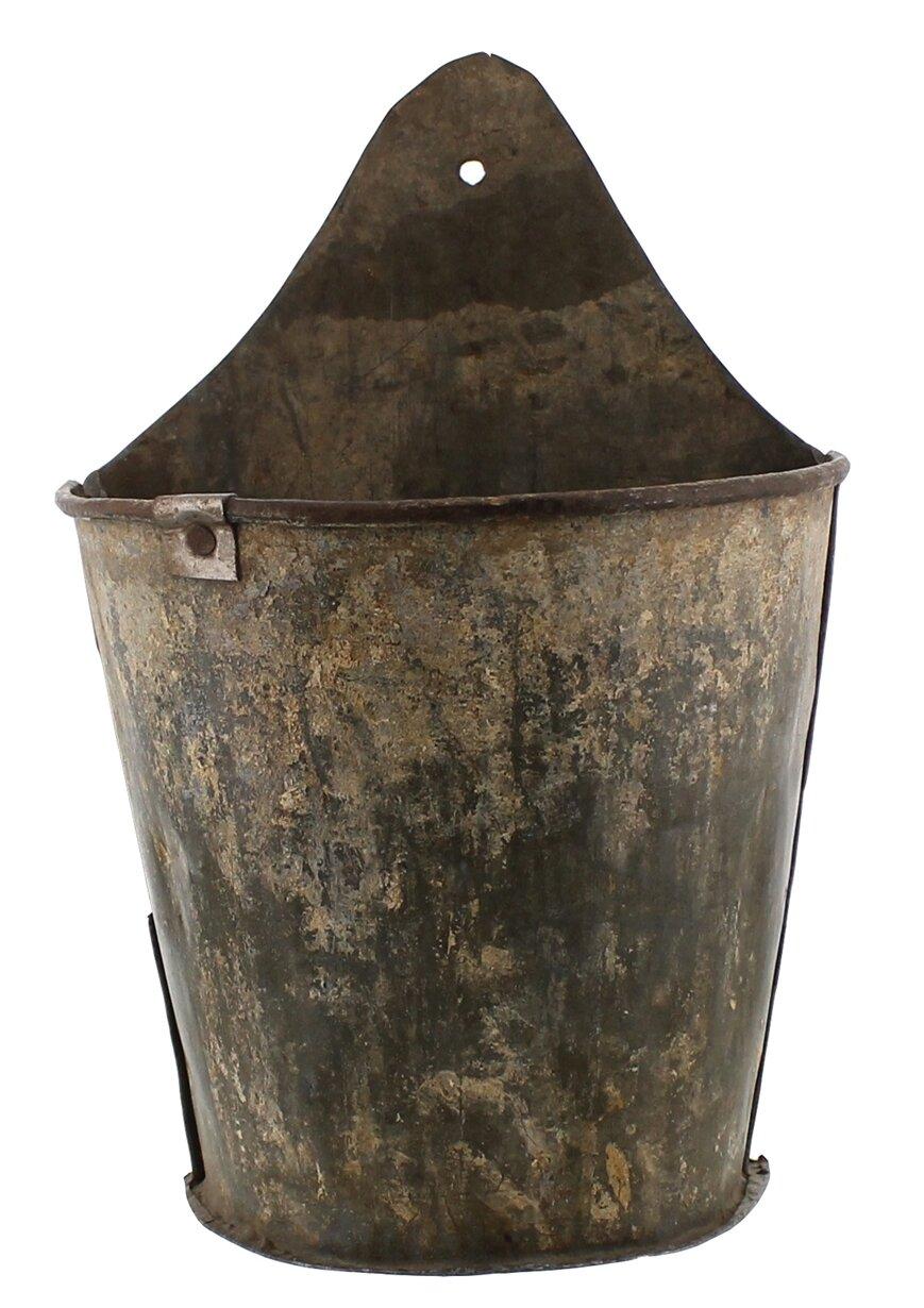 Gracie Oaks Stong Half Bucket Iron Wall Planter Reviews Wayfair
