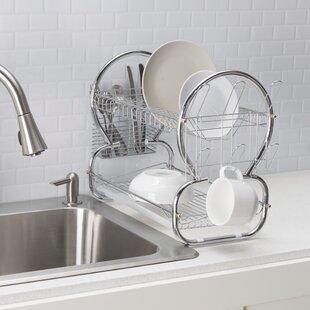 Home Basics 2 Tier Dish Drainer