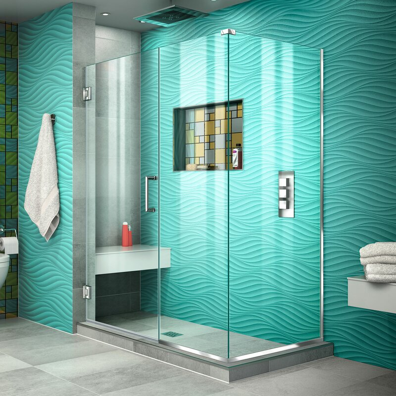 Check Ratings Dreamline Unidoor Plus 47 X 72 Hinged Frameless Shower Enclosurewith Clear Max Technology For Bathroom