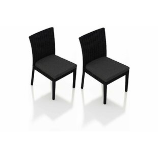 Azariah Patio Dining Chair with Cushion (Set of 2)