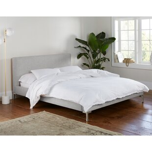 Everly Quinn Landy Linen Upholstered Platform Bed