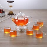 Filtering Glass Tea Set for People