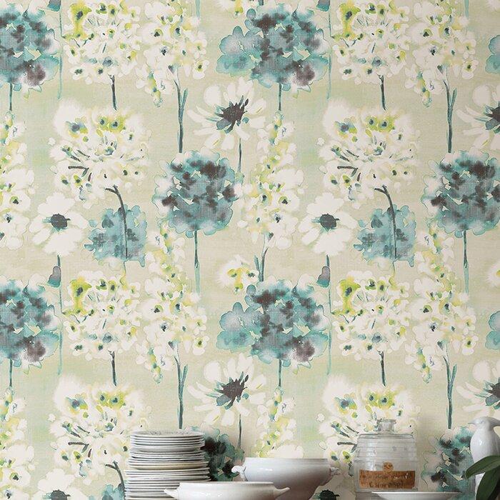 Celine Watercolor Floral 33 L X 20 5 W Wallpaper Roll