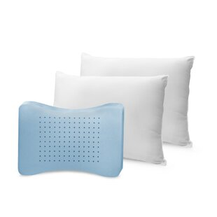 Hybrid Fiber/Memory Foam Pillow (Set of 2)