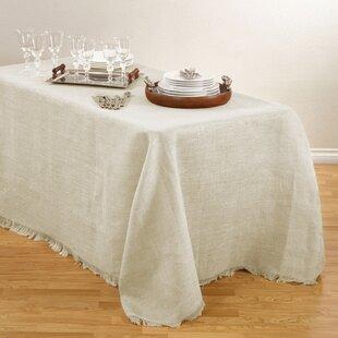Round Burlap Tablecloth | Wayfair