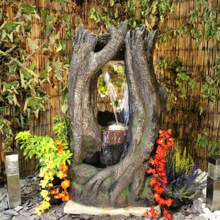 Yarmuth Woodland Resin Water Feature With Light By Sol 72 Outdoor