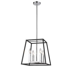 Wintergreen 4-Light Geometric Chandelier by Breakwater Bay