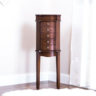 Dario Meg Jewelry Armoire with Mirror by Alcott Hill