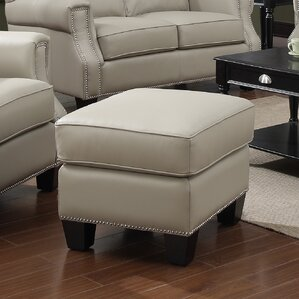 Uptown Leather Ottoman by At Home Designs