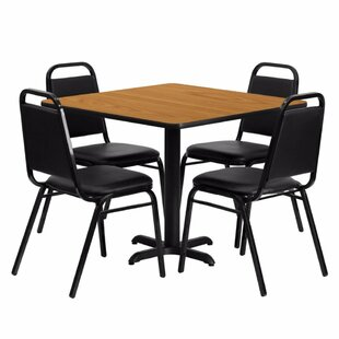 Alvarado Square Laminate 5 Piece Solid Back Dining Set