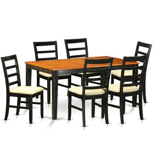 Pillar 7 Piece Wood Dining Set by August ..