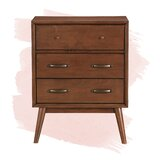 Morris Mid-Century Modern 3 Drawer Accent Chest by Foundstone™