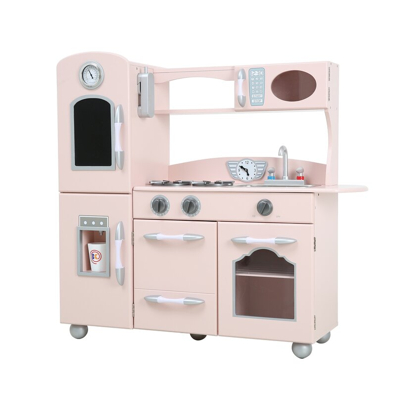 Wooden Play Kitchen teamson kids wooden play kitchen set & reviews | wayfair