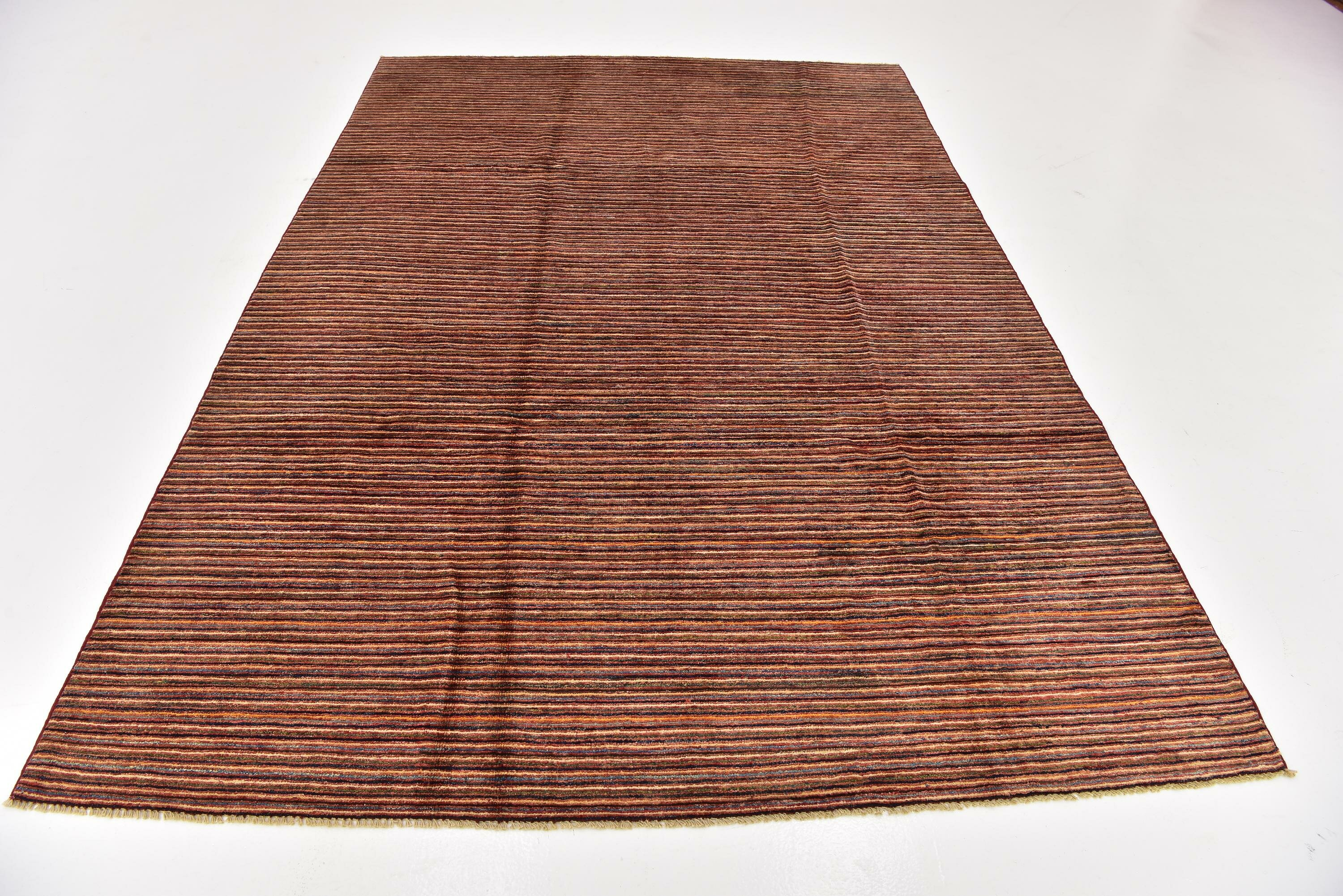 Isabelline One Of A Kind Nash Hand Knotted 6 7 X 9 7 Wool Beige Red Area Rug Wayfair