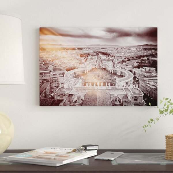 East Urban Home Dolce Vita Rome Ray Of Light Collection The Vatican City By Philippe Hugonnard Graphic Art Print On Wrapped Canvas Wayfair