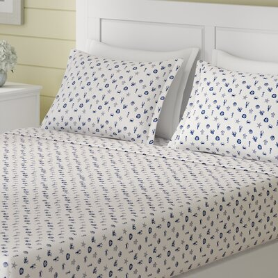 Veronica 200 Thread Count 100% Cotton Sheet Set Beachcrest Home