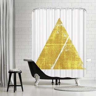 De Luca Triangle 1 Single Shower Curtain