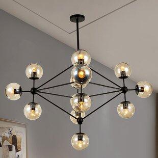 Wrought Studio Dortch 15-Light Sputnik Chandelier