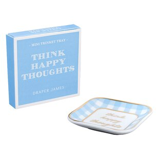 Think Happy Thoughts Trinket Dish